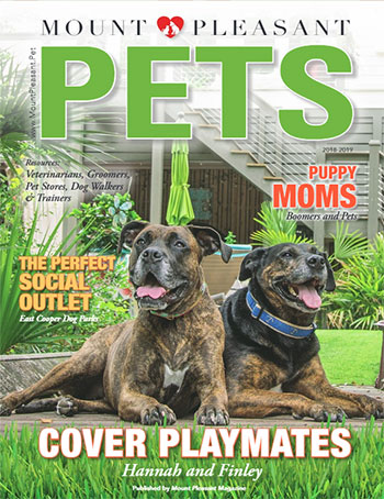 Mount Pleasant Pets 2018 magazine cover - dogs, cats, and pets in Charleston and Mount Pleasant