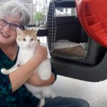 Photo of Mary Beth Dew & NEville the ca for the Search and Rescue: Pets Find Their Forever Homes in Mount Pleasant article
