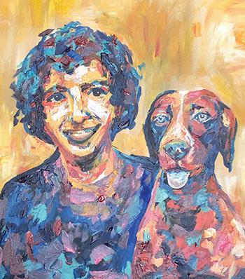 Painting of Anthony and Madison by Lauren Gabriel
